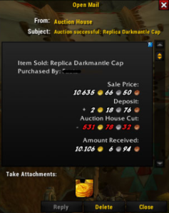 Darkmantle cap SOLD