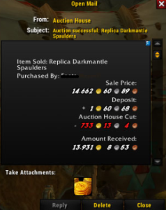 Darkmantle spaulders SOLD