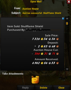 Skullflame shield sale