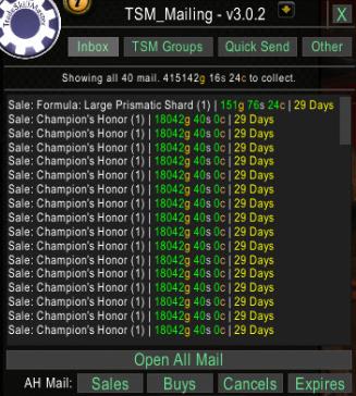 Champions Honor sales