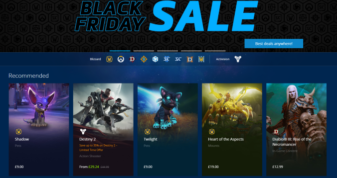 blizzard black friday sales